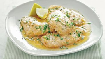 receta escalopines de pollo al limon